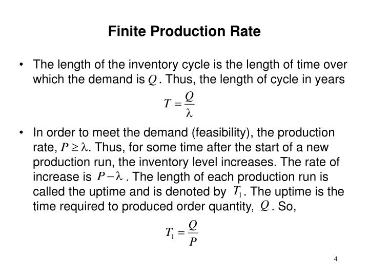 Finite Production Rate