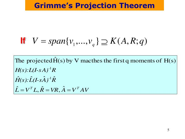Grimme's Projection Theorem