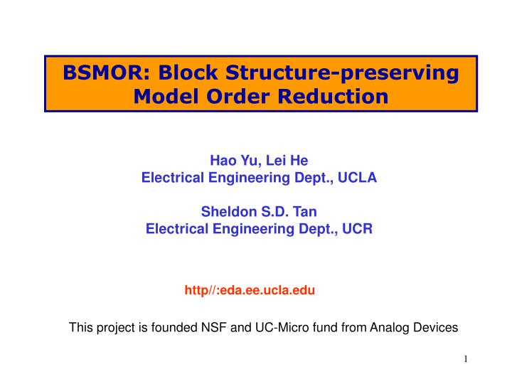 BSMOR: Block Structure-preserving