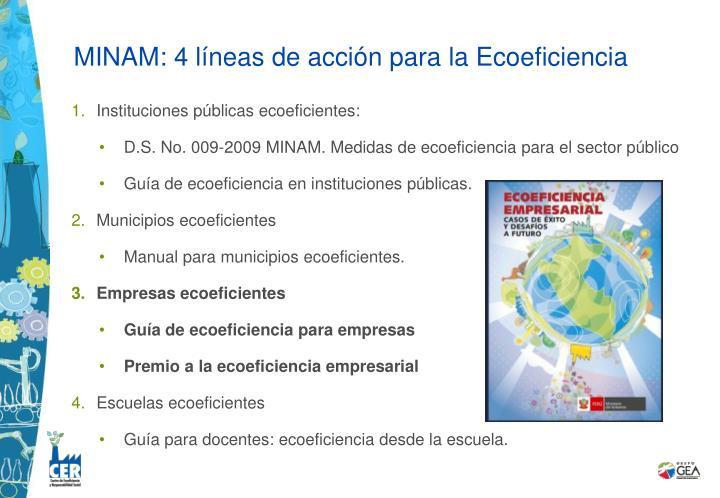 MINAM: 4 líneas de acción para la Ecoeficiencia