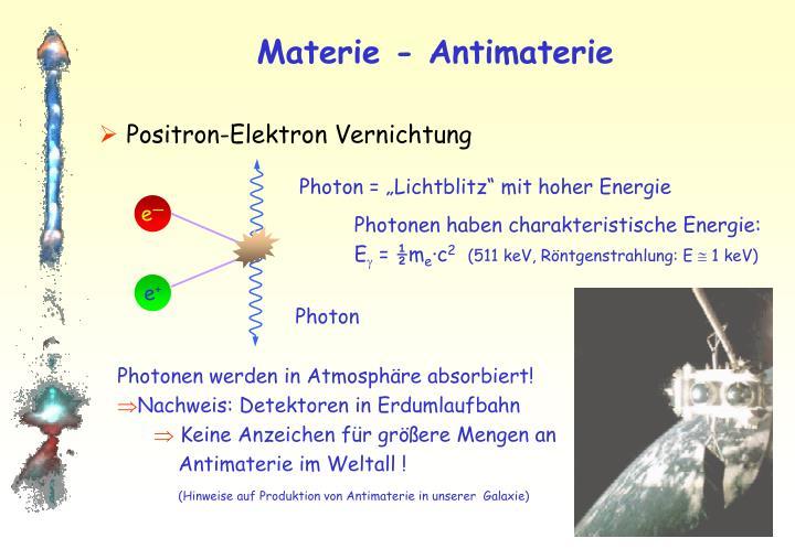 Materie - Antimaterie