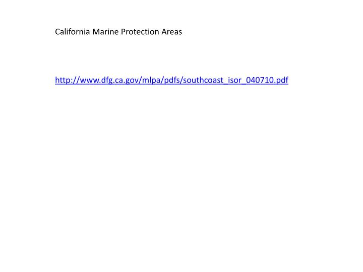California Marine Protection Areas