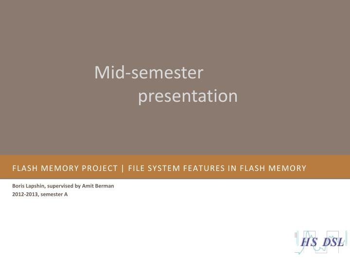 flash memory project file system features in flash memory n.