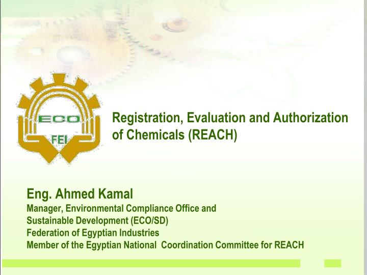 registration evaluation and authorization of chemicals reach