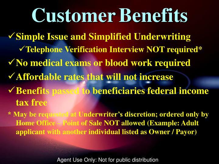 CustomerBenefits