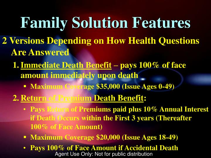 Family Solution Features