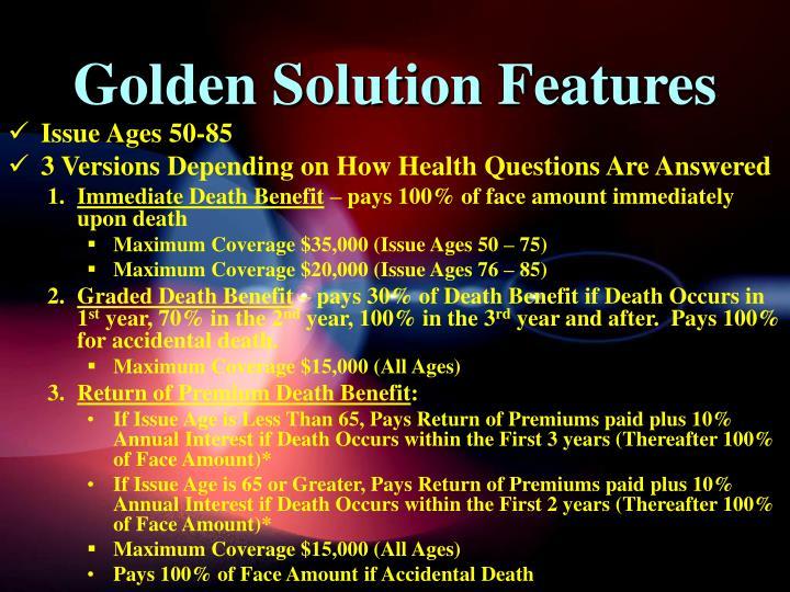 Golden Solution Features