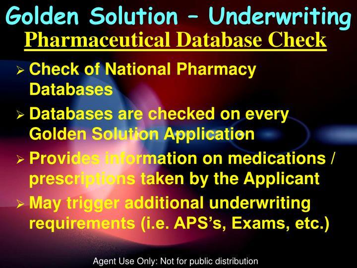 Golden Solution – Underwriting