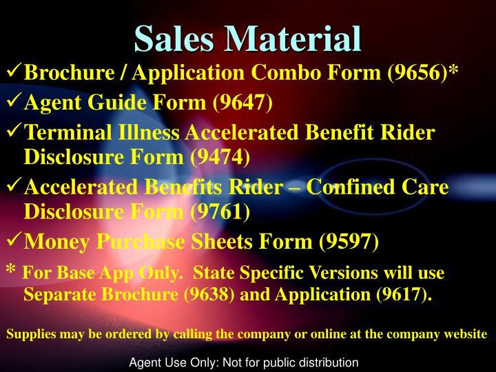 Sales Material