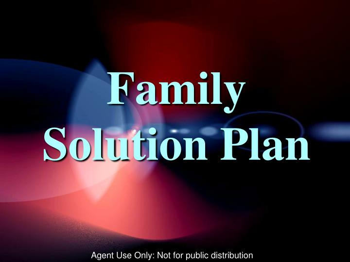 Family Solution Plan