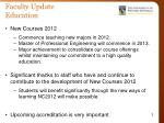 faculty update education