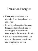 transition energies