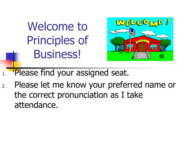 welcome to principles of business n.