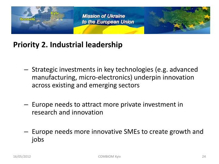 Priority 2. Industrial