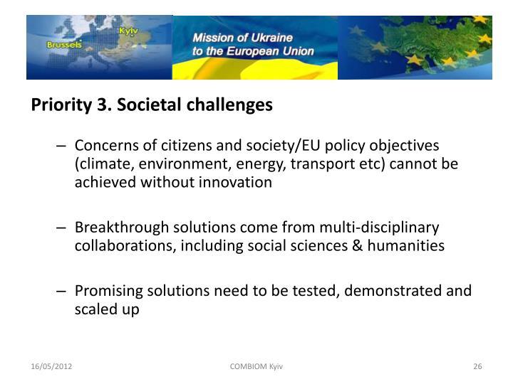 Priority 3. Societal