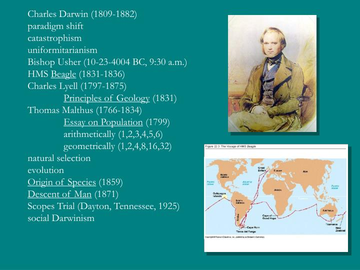 the influence of thomas malthus and charles lyell on charles darwins theory on natural selection Darwins theory of evolutions influence  (how did thomas malthus influence charles  spencer embraced charles darwin theory of natural selection,.