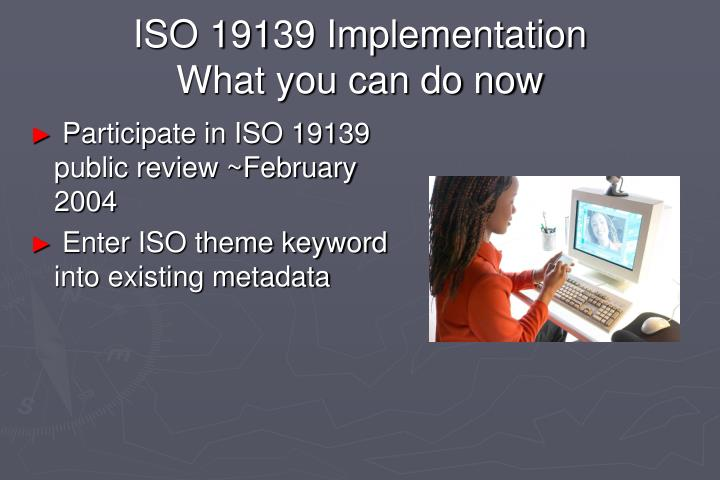 ISO 19139 Implementation