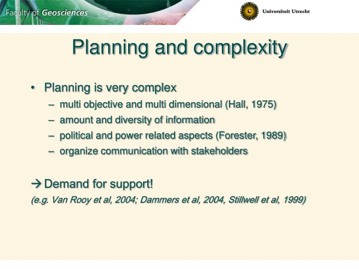 Planning and complexity