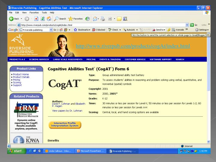 http://www.riverpub.com/products/cogAt/index.html