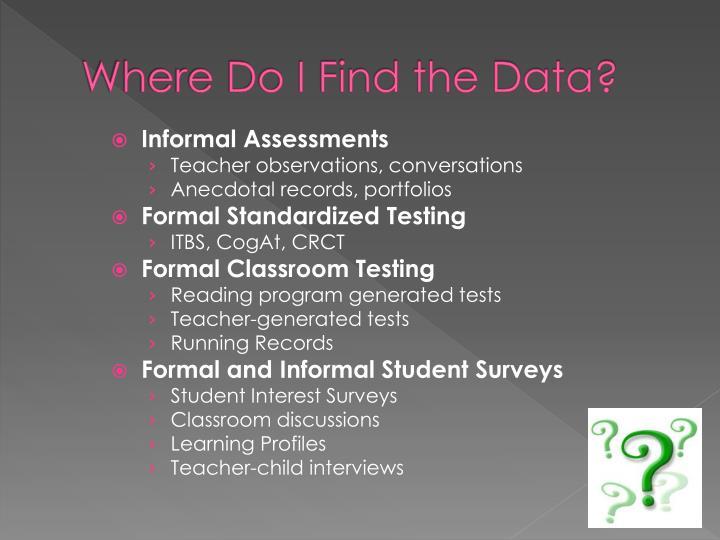 Where Do I Find the Data?