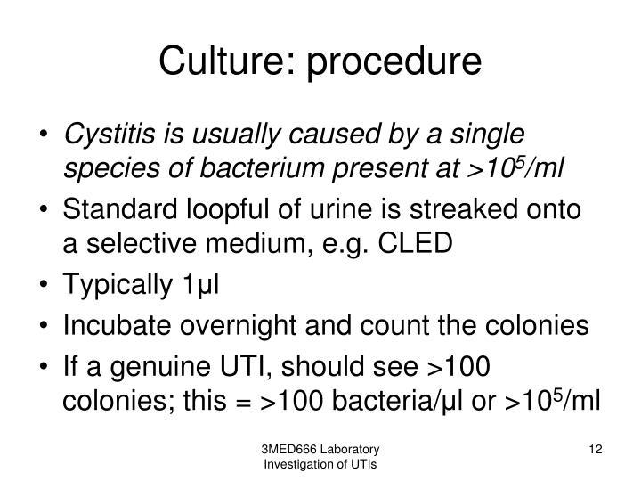 Culture: procedure
