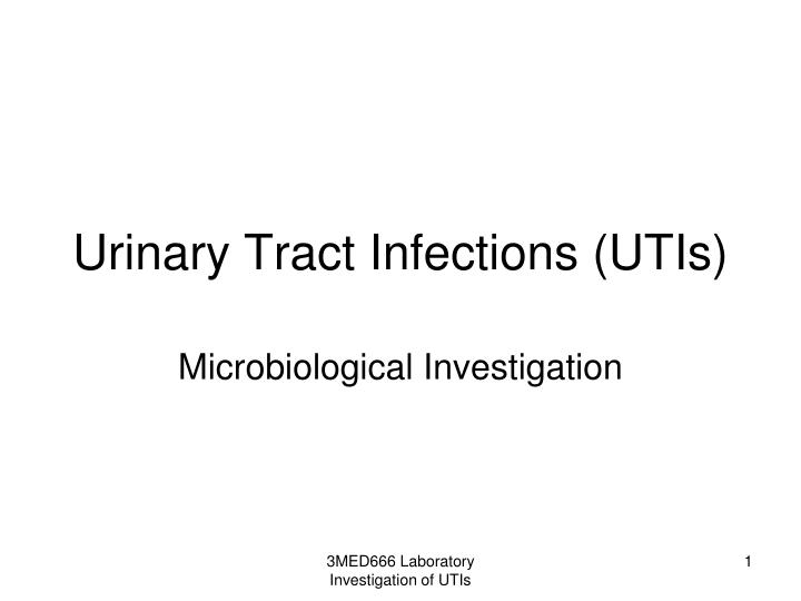 Urinary tract infections utis