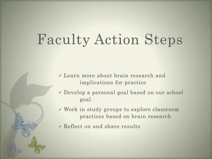 Faculty Action Steps