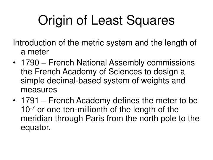 Origin of Least Squares