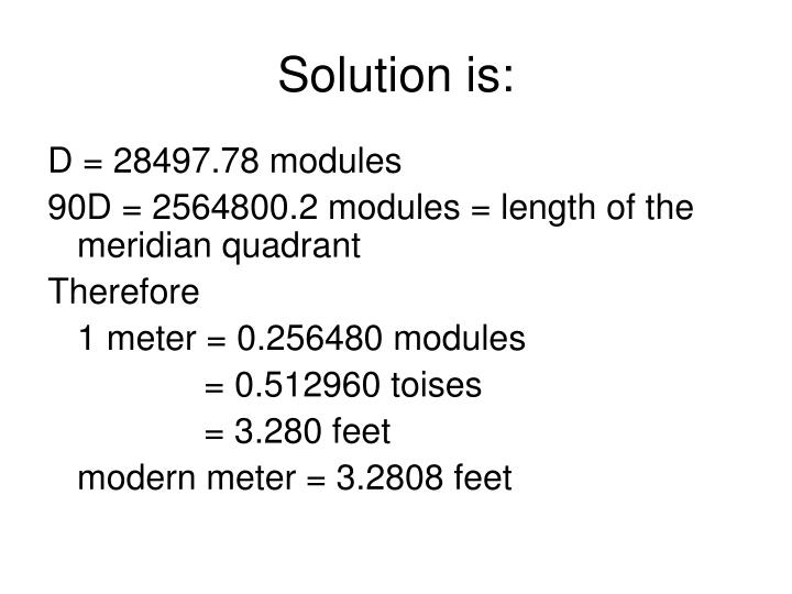 Solution is:
