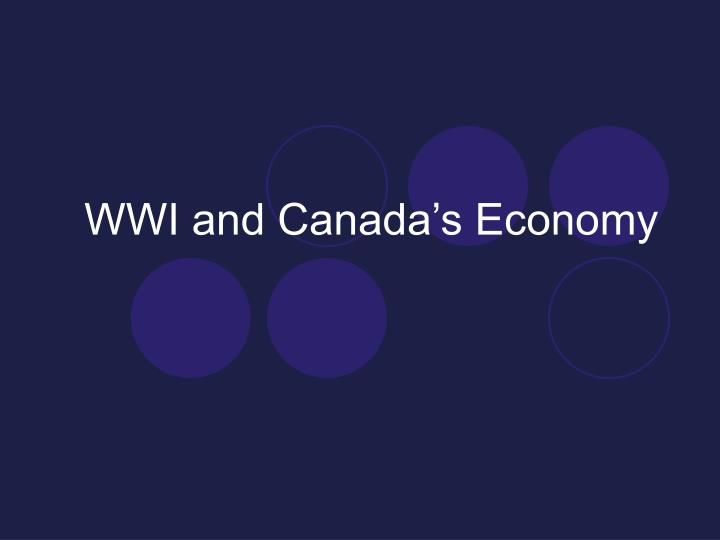 wwi and canada s economy n.