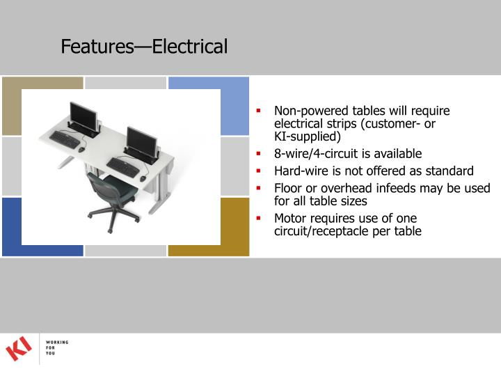 Features—Electrical