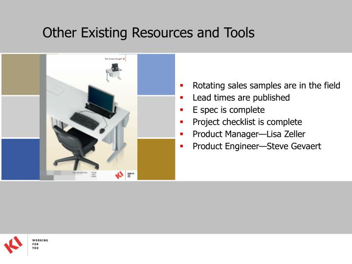 Other Existing Resources and Tools