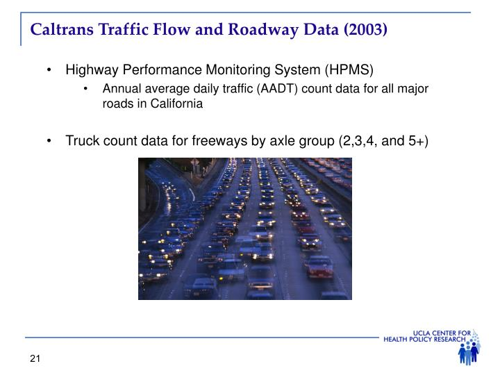 Caltrans Traffic Flow and Roadway Data (2003)