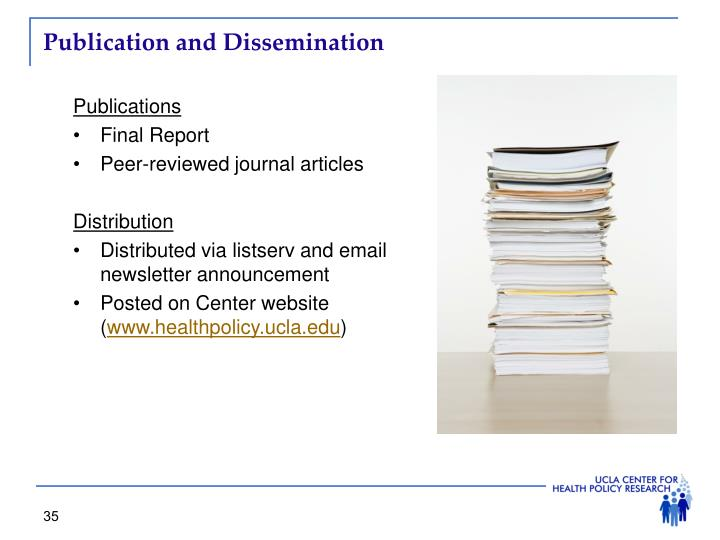 Publication and Dissemination