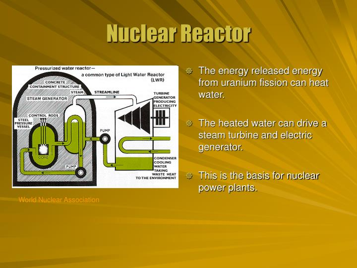 The energy released energy from uranium fission can heat water.