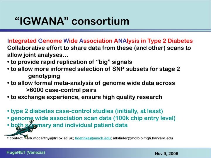 """""""IGWANA"""" consortium"""