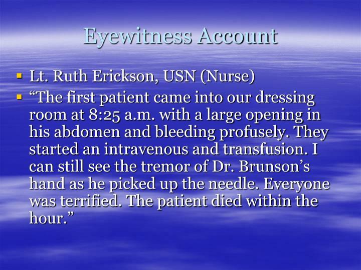 Eyewitness Account