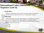 international cadet admissions sequence cont d2