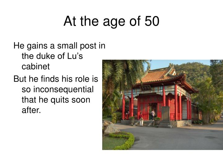 At the age of 50