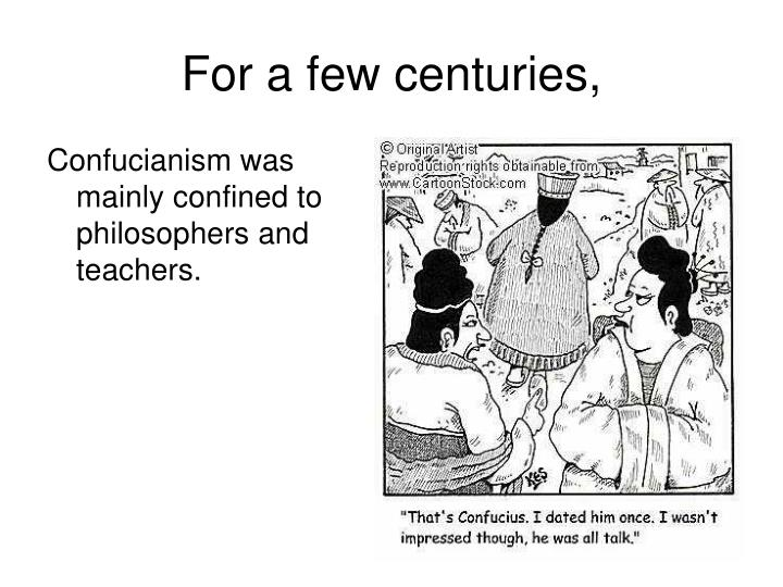 For a few centuries,