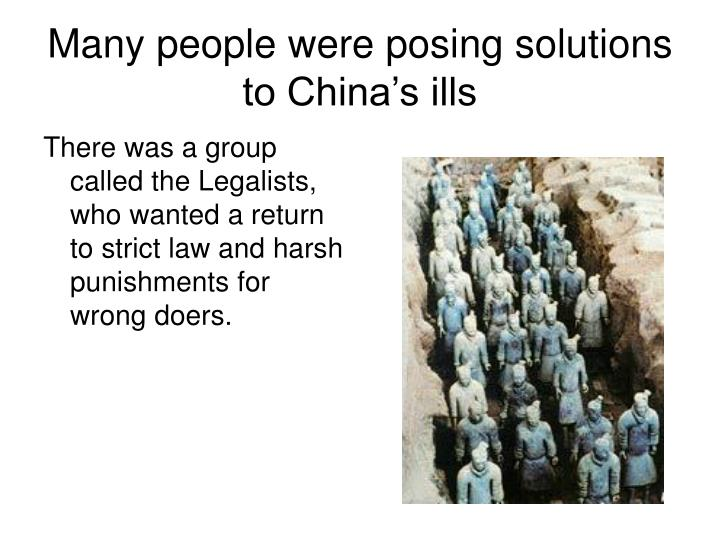 Many people were posing solutions to China's ills