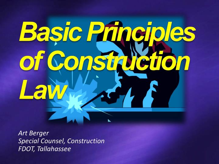 art berger special counsel construction fdot tallahassee n.