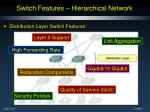 switch features hierarchical network1