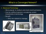 what is a converged network1