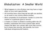 globalization a smaller world