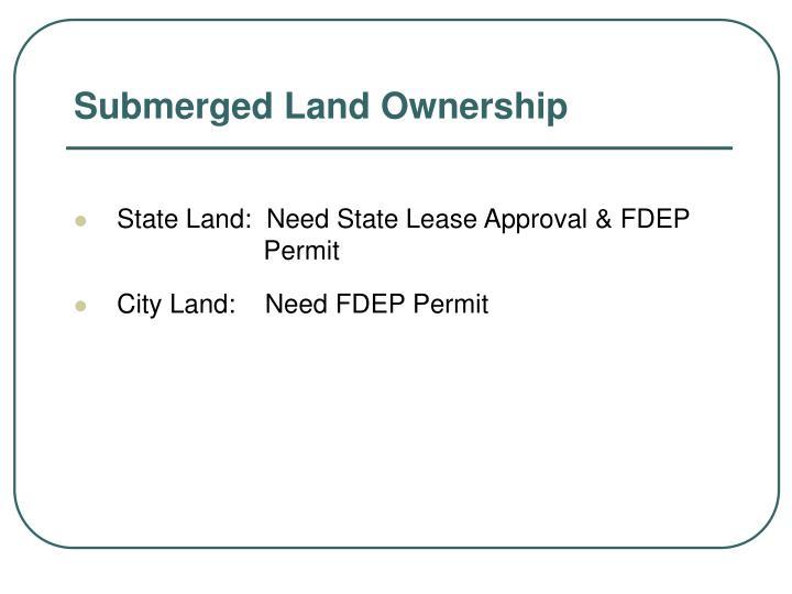 Submerged Land Ownership