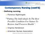 contemporary nursing cont d