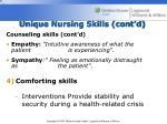 unique nursing skills cont d2
