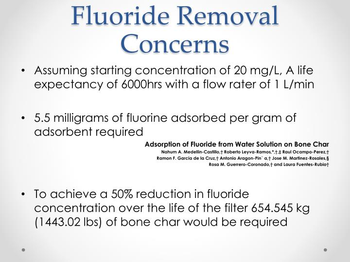 Fluoride Removal Concerns