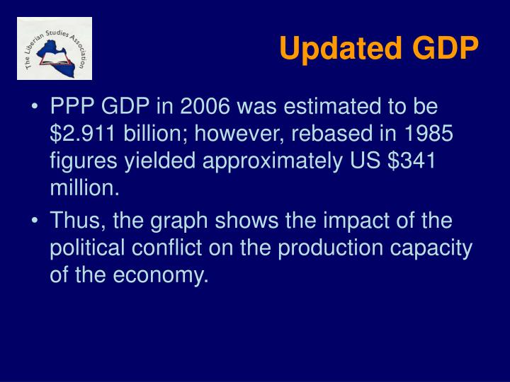 Updated GDP